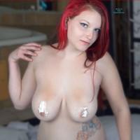Whip Cream Bikini - Big Tits, Redhead