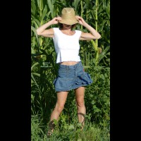 Genevieve At The Edge Of A Cornfield