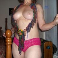 Baby in Mardi Gras Fare - Big Tits, Mature