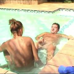 Swimming Pool Action and Facial - Penetration Or Hardcore, Cumshot