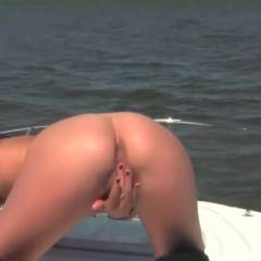 On The Bow of The Boat - Toys, Close-Ups, Shaved, Masturbation