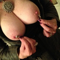 Very large tits of my wife - DD