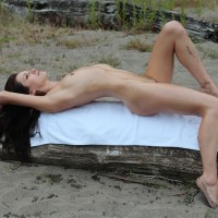A Cold Day On The Beach - Beach, Brunette, Small Tits