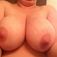 Very large tits of my wife - Jen