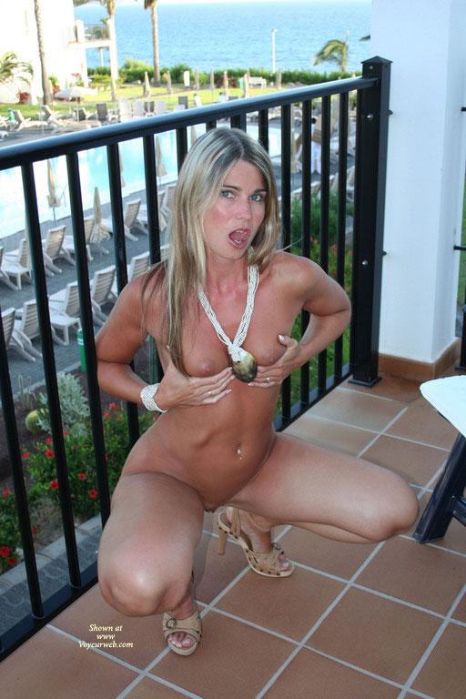 Pic #4 Elektra Works At Hotel Balcony