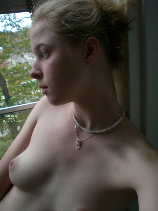 Pic #1 - Young Cutie Topless - Blonde Hair, Natural Tits, Pale Skin, Perky Tits, Topless , Pale Skin, Shell Necklace, Short Blond Hair, Sexy Fair Skin, Natural Perky Tits, Long Neck, Great Boobs, Elegant Boobs, Puffy Nipple, No Makeup, Young Blonde