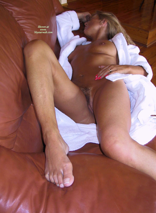 Nude Milf - Hairy Bush, Large Breasts, Milf, Trimmed Pussy, Naked Girl, Nude Amateur , Asleep In White Robe, Nude On Sofa, Nude In Gown, Large Flattened Breasts, White Pussy, White Bathrobe, Pink Fingernails, Open Robe