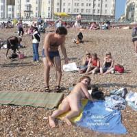 Brighton Beach, Poland Woman In Thong