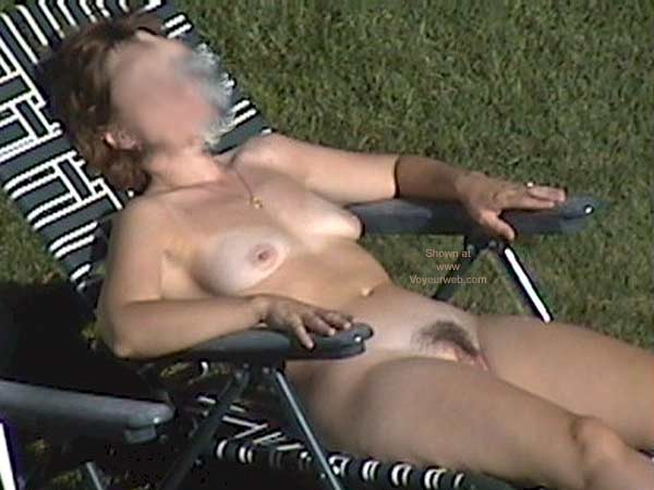Pic #4 - My Wife Tanning Nude