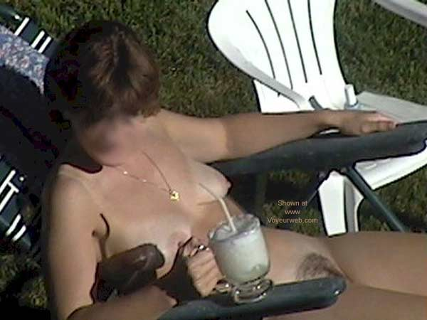 Pic #6 - My Wife Tanning Nude
