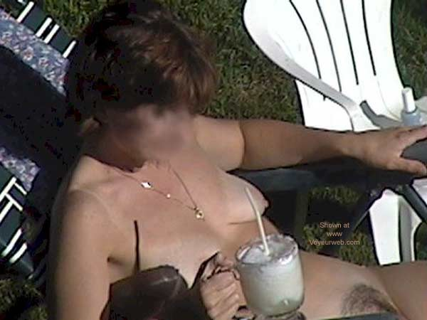 Pic #7 - My Wife Tanning Nude