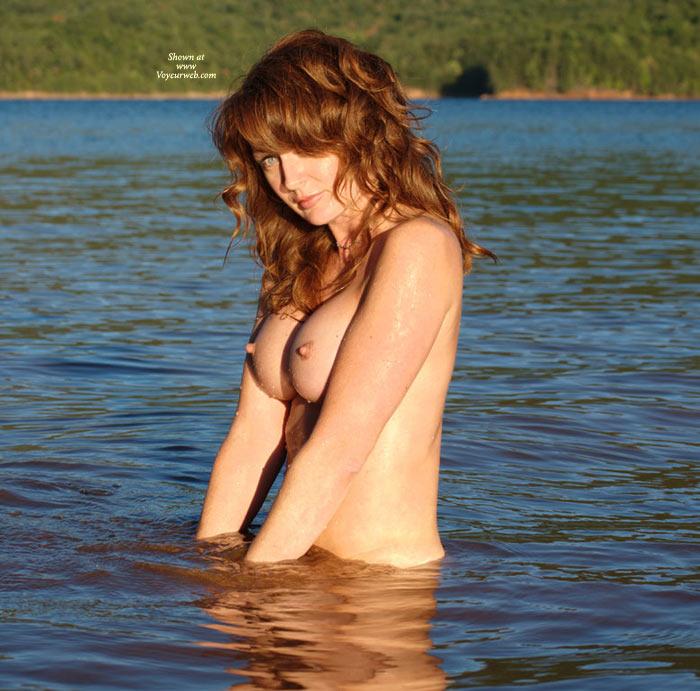 Lake Topless - Blue Eyes, Erect Nipples, Hard Nipple, Long Nipples, Nude Outdoors, Topless, Naked Girl, Nude Amateur , Light Green Eyes, Classic Nude, Huge Boobs, Auburn Hair, Water Blue Eyes, Redhead, Water Beauty