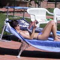 Gf Suntan On The Pool