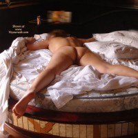 Nude Spread Eagle On Round Bed - Spread Legs, Naked Girl, Nude Amateur