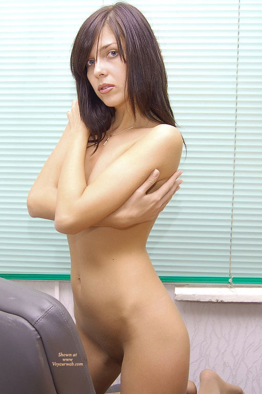 Nude Girlfriend - Dark Hair, Long Hair, Naked Girl, Nude Amateur , Naked With Covered Breasts, Hugging Myself, Green Eyes, Kneeling Covering Breasts, Closed Blinds, Covering Breasts With Arms, Kneeling On Chair, Reach Around, Kneeling With Arms Folded, Nude On Leather, Hugging Herself, Hugging Breasts