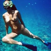 Snorkeling Nude - Long Hair, Naked Girl, Nude Amateur