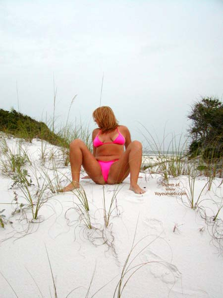 Pic #1 - Soo Hot At The Beach Pink Thong 2