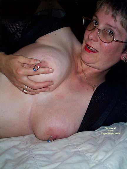 Pic #7 - More Nipple  Rings And A Little Milk