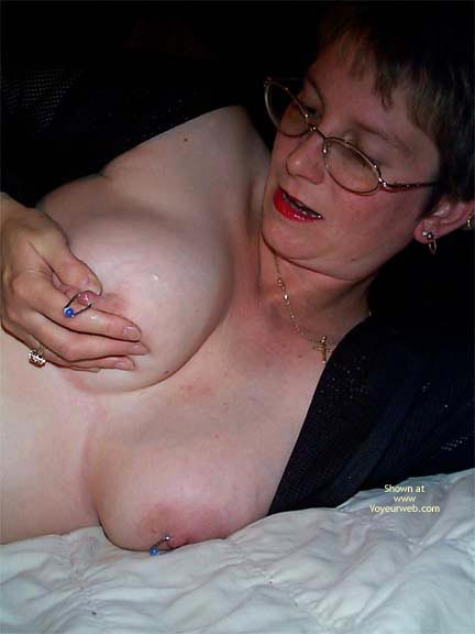 Pic #8 - More Nipple  Rings And A Little Milk