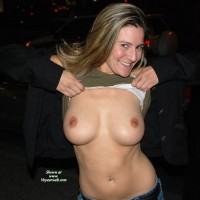 Flashing Tits - Big Tits, Blonde Hair, Flashing, Long Hair, Small Tits