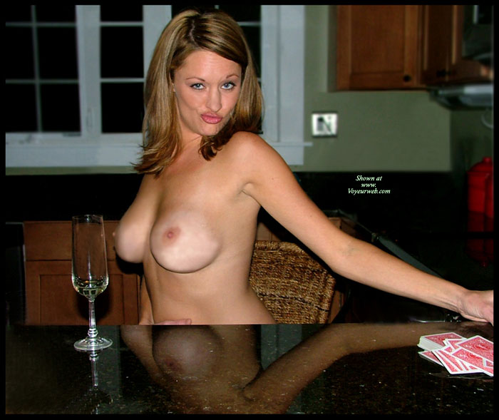 Pic #1 - Topless Wife Making Funny Face - Brown Hair, Topless, Hot Girl, Looking At The Camera, Sexy Face, Sexy Wife, Topless Wife , Big Boobs, Empty Glass, Making A Face, Topless At Table, Light Brown Hair, Bj Lips, Card Shark, Loosing At Strip Poker Game, Full Round Breasts, Reflection In Table
