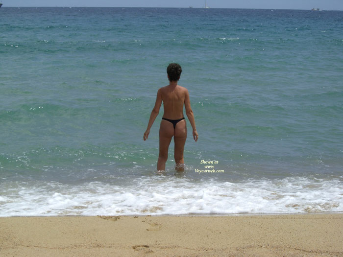Pic #1 - On The Beach , Wife On The Beach From Costa Brava Spanien