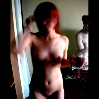 Naked Wine Drinking - Red Hair, Naked Girl, Nude Amateur
