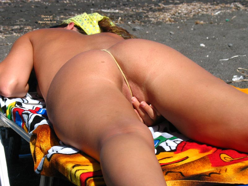 String on pussy naked beach Women in