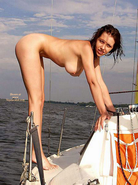 Nude Girl On Sail Boat - Brunette Hair, Long Hair, Long Legs, Naked Girl, Nude Amateur , Long Brunette Hair, Boating Naked, Hanging Breasts, Bent Over Naked Tits Hanging