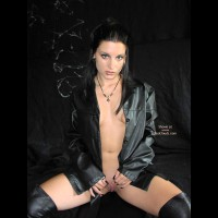 Raven Grace Leather And Dildo