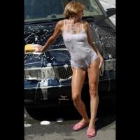 Genevieve Washing The Car