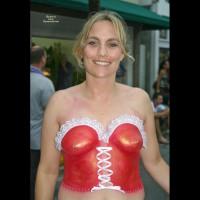 bodypainting corset