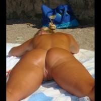 Blonde Nudist Girl In Rodos Island, Greece