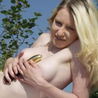 Julia On Nature With Vibrator