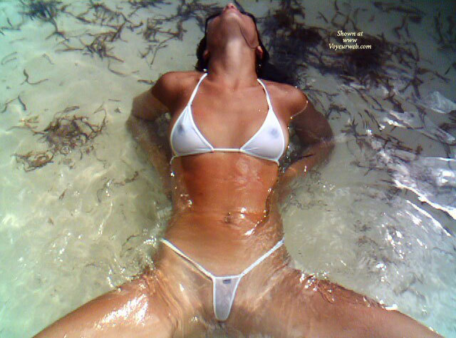 Pic #1 - Sexy Bikini - Shaved Pussy, Small Tits, Spread Legs , Legs Apart, Spread In Beach Water, Sheer White Weacked Weasel, Woman In Water, Small White Bikini, Spread In Bikini, Transparent Bikini, Transparency In Water, Wicked Weasel, See Through Bikini, White Bikini In Water, White And Wet, Wet Bikini, Sitting In The Water