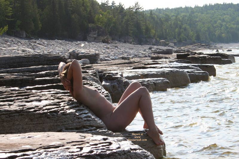 Pic #1 - Naked On The Rocks By The River With Hands Behind Head - Nude Outdoors, Small Tits, Hot Girl, Naked Girl, Nude Amateur , Outdoor Nude Profile, Sunning Nude On Rivers Edge, Sitting On Rock Along River, Full Nude, Redhead Small Tits, Beauty On The Rocks, Exposed To Nature, Hot Girl On Rocks Enjoying Water View, B Cup Breasts Outdoors
