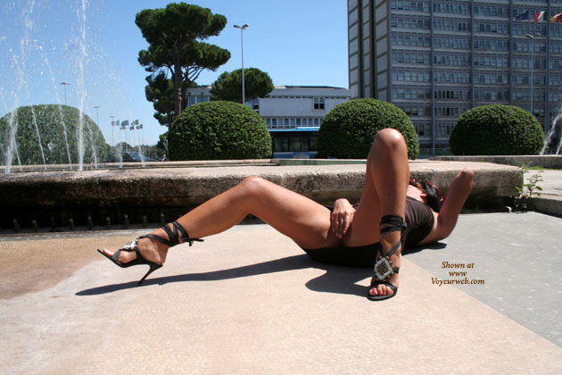 Pic #1 - Woman On Back With Hand Over Pussy - Exhibitionist, Spread Legs, Spread Eagle , Covered Pussy, Spread Legs On The Floor, Spread Legs, Lying On Back, Laying In The Sun Doing Herself, Lying Outside With Legs Open, Public, Spread In Public, Outdoor