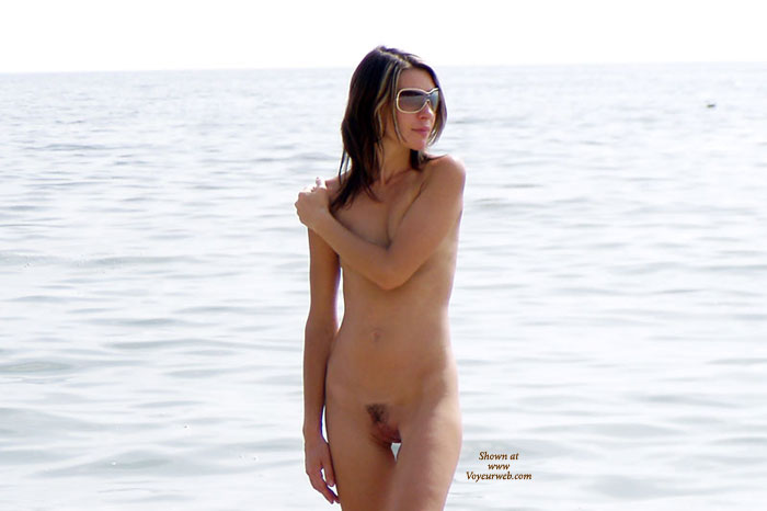 Pic #1 - Skinny Brunette - Brunette Hair, Hairy Bush, Sunglasses, Trimmed Pussy, Naked Girl, Nude Amateur , Covering Tits, Partly Shaven Pussy, Walking On Beach Nude, Nude On The Beach, Young Naked Girl At The Beach, Arm On Shoulder Covering Breasts, Brunette Hair, Nude Girl Standing