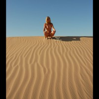 Natasha: nude girl on dunes
