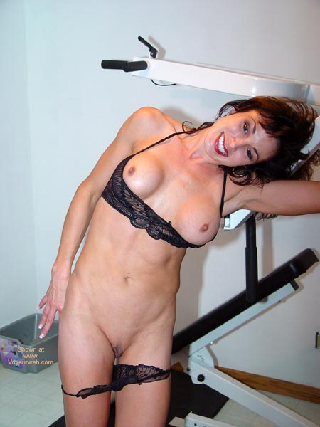 Pic #1 - Black Bra And Panties - Exposed In Public, Small Nipples , Black Bra And Panties, Small Nipples, Black Underwear And Exposed