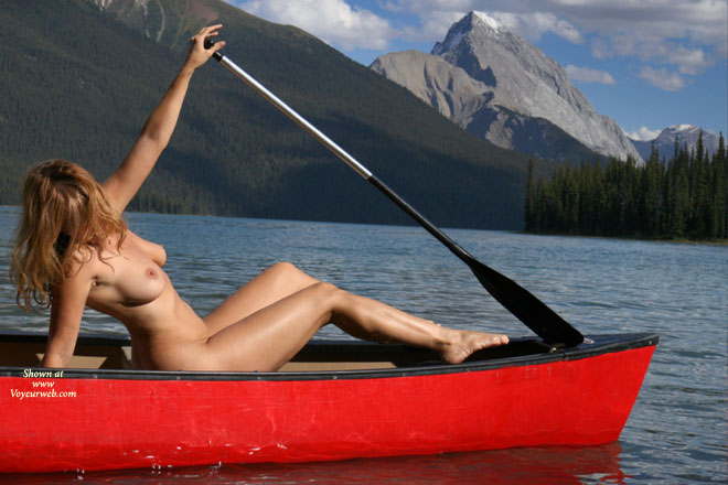 Pic #1 - Naked In A Canoe - Blonde Hair, Large Breasts, Nude Outdoors, Naked Girl, Nude Amateur , Long Haired Strawberry Blonde, Firm Body, Large Upturned Breasts, Athletic Body, Sexy In Nature, Mountain Lake, Naked Outdoors, Outdoor Nude Beauty