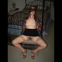 Tied Wife - Bondage, Heels, Spread Legs