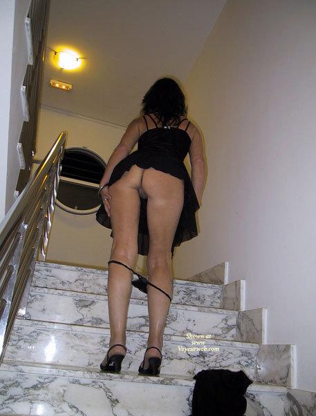 upskirt stairs