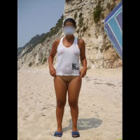 Cristina In Micro Thong On The Beach!