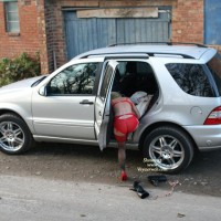 GIRL Changing Next To Car - Heels