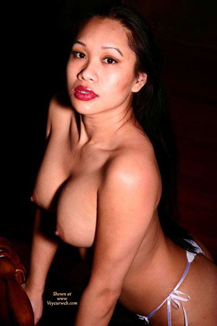 Pic #1 - Oriental Topless - Big Tits, Black Hair, Large Breasts, Red Hair, Topless , Topless Leaning On Chair, Big Titted Asian, Fake Tits, Asian Girl, Asian Face, Juicy Red Lips