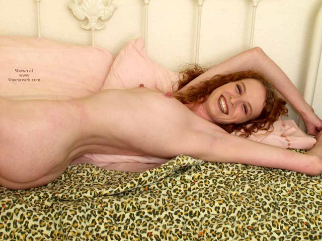 Pic #1 - Curly Redhead - Lying Down, Perky Nipples, Looking At The Camera, Sexy Body , Curly Redhead, Perky Nipples, Smiling Naked, Smiling At Camera, Laying On Bed, Tight Body