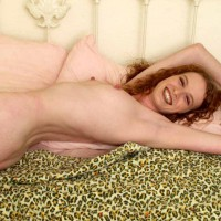 Curly Redhead - Lying Down, Perky Nipples, Looking At The Camera, Sexy Body