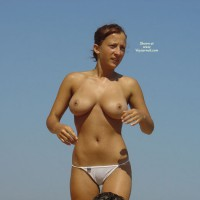 Wet After Swimming - Big Tits, Camel Toe, Erect Nipples, Large Breasts, Natural Tits, Topless