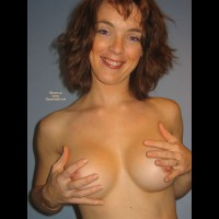 Topless Wife - Brown Hair, Erect Nipples, Perfect Tits, Topless, Topless Wife , C-cup Tits Breast, Wife's Tits, Peeking Nips, Topless Indoor, Great Smile, Topless Girl